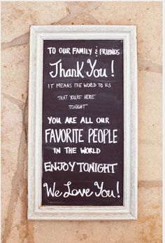 a message for our guests