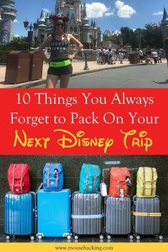 Disney Trip Packing List - Must-Have Essentials - Mouse Hacking Disneyworld Packing List, Disney World Packing, Disney World Vacation Planning, Disney World Florida, Disney Planning, Disneyland Trip, Packing List For Travel, Disney Vacations, Disney Travel