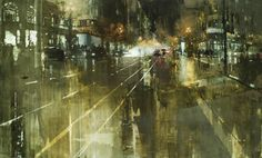 Rooftops in the Snow It's almost impossible for me to select a favorite piece when looking at paintings by San Francisco painter Jeremy Mann.