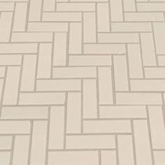 Domino Herringbone Mesh Mounted Porcelain Mosaic Tile in Almond