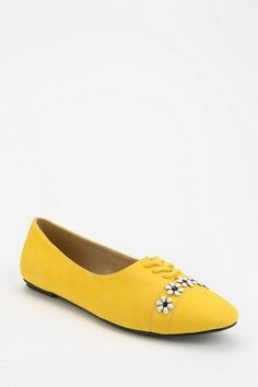 Cooperative Flower Trim Lace-Up Skimmer #urbanoutfitters