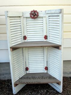 From The Alley To The Gallery: Old Shutters Turned into a Shelf - Sorticulture