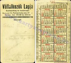 1930 - 1930_0002 - Régi magyar kártyanaptárak