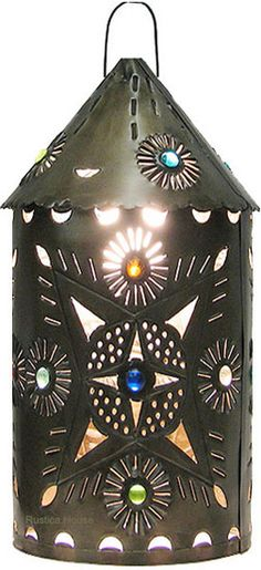 """This decorative tin lantern is mean for illuminating indoors and outdoors. The design """"Irapuato"""" is a great rustic home and garden decoration idea. Rustic Garden Decor, Rustic Gardens, Hotel Foyer, Tree Lanterns, Hacienda Homes, Garden Projects, Garden Ideas, Wedding Centerpieces, Centerpiece Ideas"""