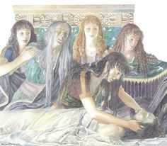 The Trojan Women Mourning Hector.and Andromache led their songs of sorrow, cradling the head of Hector, man-killing Hector gently in her arms. Ancient Troy, Ancient Greek Art, Ancient Greece, Homer Iliad, Greece Mythology, Alan Lee, Alchemy Art, Greek Warrior, Trojan War