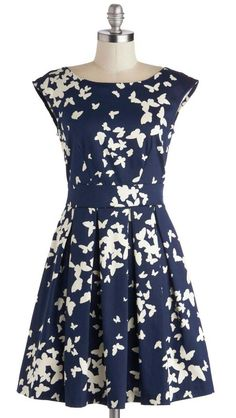 Fluttering Romance Dress in Butterflies