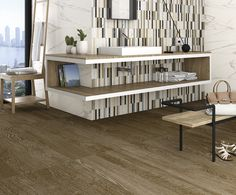 Porcelain tiles Elara-R Marron cm. Porcelain Wood Tile, Ceramic Floor Tiles, Tile Floor, Flooring, Cabinet, Bathroom, Storage, Wall, Inspiration