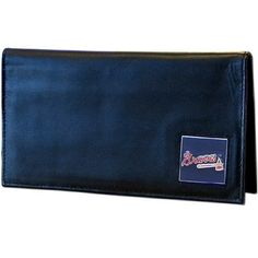 MLB Atlanta Braves Deluxe Leather Checkbook Cover by Siskiyou. $19.99. This deluxe leather checkbook cover is made of high quality Napa Grain leather and includes a card holder, clear ID window, and inside zipper pocket for added storage. Team logo square is sculpted and enameled with fine detail. The checkbook cover comes packaged in a collectible sports tin that makes it perfect for gift giving.