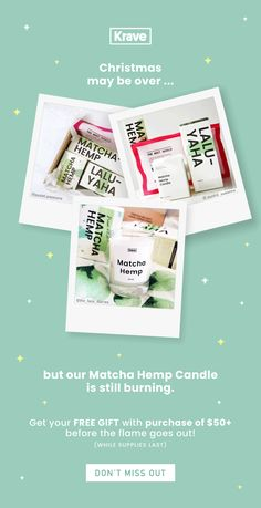 KraveBeauty Email Newsletter Design || Product Promotion || Matcha Hemp Candle Matcha, Email Web, Web Instagram, Newsletter Design, Email Newsletters, Hemp, Free Gifts, My Design, Promotion
