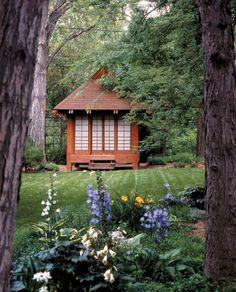 a serene Asian-inspired garden