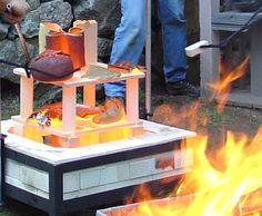 Raku-firing-kiln-setup Great Website with tons of tutorials including handbuilding