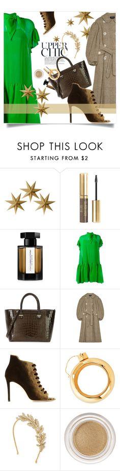 """Delpozo Mini Dress"" by laste-co ❤ liked on Polyvore featuring LumaBase, Milani, L'Artisan Parfumeur, Delpozo, Victoria Beckham, Simone Rocha, Jimmy Choo, Cynthia Rowley, Jennifer Behr and Lancôme"