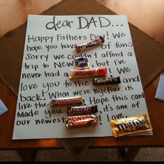 Creative and awesome card idea! @Lauren Davison Ammerman father's day card from the kids?