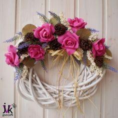 Věnec Alexa dekorace podzim levandule letní levandulová věnec věneček léto podzimní celoroční aranžmá bukvice