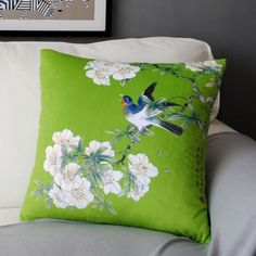 Chinese style Bird throw pillow for home decoration