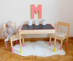 Un montón de ideas para personalizar la serie de Ikea Lätt, las mesas y sillas más populares para nuestros peques. ~ The Little Club. Decoración infantil para bebés y niños.