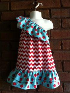 custom boutique childrens clothing girl on shoulder halter dress pillowcase dress applique monogrammed birthday outfit
