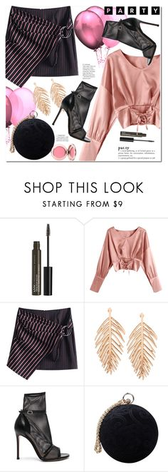 """Party"" by duma-duma ❤ liked on Polyvore featuring NYX, Gianvito Rossi and Carvela"