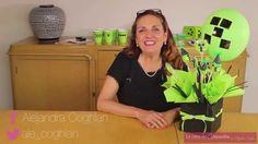 Centro de Mesa con Dulces y Globos de Fiesta de Minecraft DIY Alejandra ...