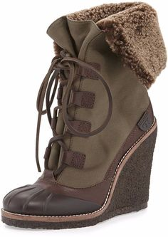 Tory Burch Fairfax Wedge Booties, women's snow boots