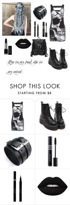 """""""Live in my soul, die in my mind"""" by ulyte0308 on Polyvore featuring Christian Dior, Sisley, Lime Crime, Yves Saint Laurent, women's clothing, women, female, woman, misses and juniors"""