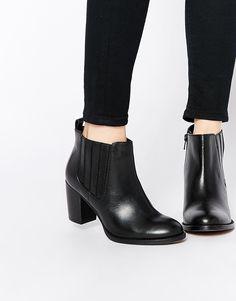 Dune Nebraska Heeled Leather Ankle Boots