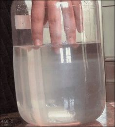 "This person dipping their fingers in liquid sodium acetate trihydrate: | 27 Trippy GIFs That Will Make You Go, ""Whoa... That's Crazy"""