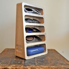 The architecture and design firm MWLRO has come up with a way to store your eyewear with their line of Bushakan stands.