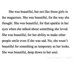 She was beautiful...