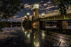 Nachts an der Spandauer-See-Brücke