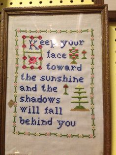 Neat cross stitch idea