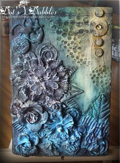 "A little mixed media.was a book called ""A Town Like Alice"", is now an altered book. A great way to use up those bits that you collect over time and will probably never use. Mixed Media Journal, Mixed Media Canvas, Mixed Media Art, Mixed Media Techniques, Art Techniques, Mix Media, Altered Books, Altered Art, 3d Canvas Art"