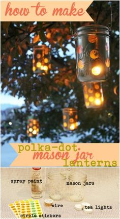 Yes, you can buy stunning lanterns and lamps online. But how about trying to make some DIY lanterns this time. Spray Paint Mason Jars, Firefly Mason Jars, Mason Jar Lanterns, Make Your Own Card, Garden Lanterns, Beautiful Home Designs, Card Making Supplies, Natural Home Decor, Bottles And Jars