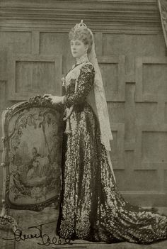 """An stunning image of Queen Alexandra of Great Britain, signed Aunt Alix"""". 1900s Courtesy of the RCT."""