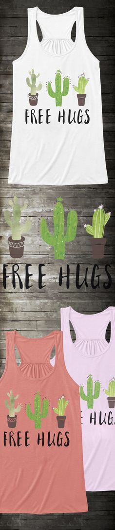 FREE HUGS, CACTI EDITION! The perfect design for that prickly succulent in your life. Get yours before they're all sold out! Made 100% in the USA - perfect gift for you or for a friend.
