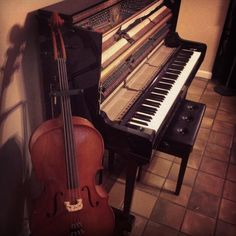 My two favorite instruments, piano and cello