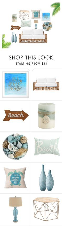 """""""by the ocean"""" by whitewinterlace ❤ liked on Polyvore featuring interior, interiors, interior design, home, home decor, interior decorating, Serena & Lily, Mud Pie, Pier 1 Imports and Lazy Susan"""