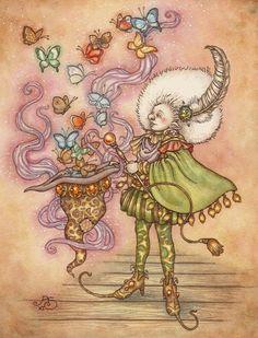 Whimsical artwork by Rosie Lauren Smith (AutumnAlchemy on Etsy)