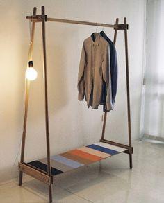 Clothing rack- hang light