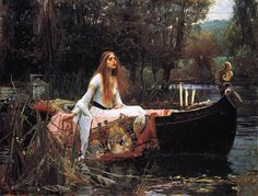 John William Waterhouse - The Lady of Shalott, 1888 I've always loved this picture!