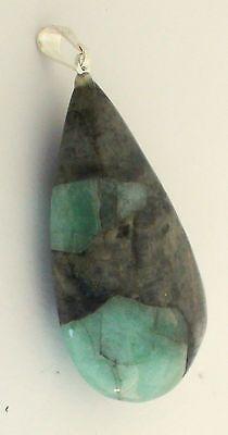 Emerald-Teardrop-Pendant-with-a-Fine-Silver-Bail-1