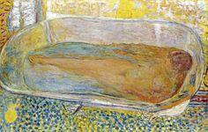 ~ La Grande Baignoire; ca.1937;Pierre Bonnard (French Post-Impressionist/Nabi,1867-1947)