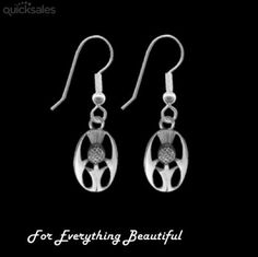 Thistle Scotland Themed Oval Small Sterling Silver Sheppard Hook Earrings by JB7339 - $35.00