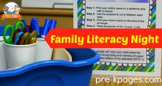 Family Literacy Night - Save time with this printable Family Literacy Night kit that includes step by step instructions, pre-written notes; 100+ pages of help at your fingertips.