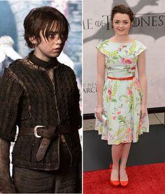 Maisie Williams (Arya Stark) - one of  my favorite Game of Thrones character