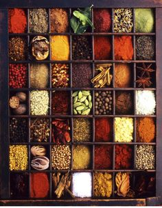 Indian Spices :: I am really obsessed with them, such beautiful colours Spice Blends, Spice Mixes, Spices And Herbs, Kraut, Belle Photo, Food Styling, Indian Food Recipes, Food Art, Spice Things Up