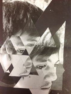 Photocopies of student portraits are made, students are given a triangle template and are asked to make a collage by cutting, arranging, and pasting the cut pieces together. Photography Lessons, Photography Projects, Art Photography, Collages, Collage Art, A Level Art, Ap Art, Art Portfolio, Portrait Art