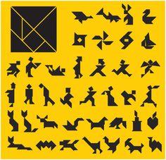 legepuzzle vorlagen tiere | tangram | legespiele, spiele und vorlagen