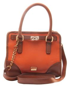Beautiful combination of colours make this all leather handbag a must.
