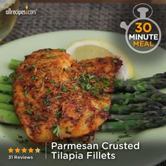 """Parmesan Crusted Tilapia Fillets 